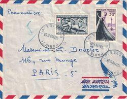 PARIS - PNEUMATIQUE - PARIS 21 - R CASTEX  LE 19-5-1953 - BEL AFFRANCHISSEMENT - VERSO *PARIS V* 10.B.DE L'EPEE DE - Postmark Collection (Covers)