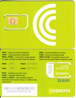 ROMANIA - Cosmote GSM, Chip Cos1, Mint - Romania
