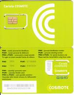 ROMANIA - Cosmote GSM, Chip Cos2, Mint - Romania