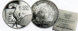 100 Francs Argent Discobole 1994 Belle épreuve Sous Capsule Dans Boite Et Certificat - Francia