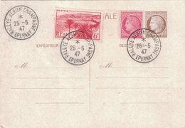 MARNE - EPERNAY - RALLYE AERIEN CHAMPAGNE - 25-5-1947 - TYPE MAZELIN - ENTIER POSTAL. - Luchtpost