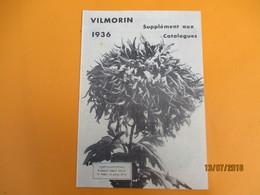 Catalogue/VILMORIN/ Supplément Aux Catalogues /Chrysanthéme Président Albert Lebrun/ 1936     CAT234 - Garden