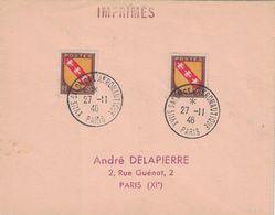 PARIS - XVIIe SALON DE L'AERONAUTIQUE - 27-11-1946. - Luchtpost