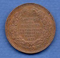 Médaille Expo Universelle Paris 1878  --  état  TTB - Other