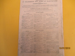 Catalogue/VILMORIN-ANDRIEUX Et Cie/ Extrait Du Calendrier Des Semis Et Plantations/  Année 1935     CAT235 - Garten