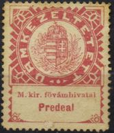 HUNGARY   PREDEAL  FISCAL- Rare  CUSTOMS OFFICE STAMP,  Hungaryan-Austrian Empire - Hongrie