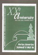 CHIMAY - XXe ANNIVERSAIRE DU CLOS DU CHEMIN VERT - Portes Ouvertes Samedi 11 Mai 96 - Programs