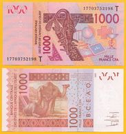 West African States 1000 Francs Togo (T) P-815Tk 2017 UNC - West African States