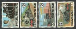 SWAZILAND 1984 TRAINS RAILWAYS SET MNH - Swaziland (1968-...)