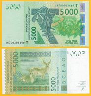 West African States 5000 Francs Togo (T) P-817Tm 2016 UNC - West African States