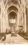 MONS - Intérieur De L'Eglise St Waudru - Oblitération De 1928 - Mons