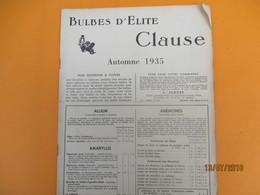 Catalogue/Graines D'Elite CLAUSE/ Tarifs D'Automne/ BRETIGNY Sur ORGE( S & O) /1935     CAT238 - Garten