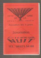 TREIGNES - 8e FÊTE DE LA GARE - LES 5, 6, 7 JUILLET 91 - Programs