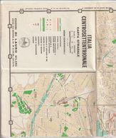 2-Cartina Geografica Dell' Italia Centro SettentrionaleCarta Stradale 1972-Edizione Di Lauro-Milano - Carte Geographique