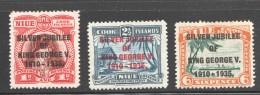 King George V Jubilee Complete Set  SG 69-71  MM - Niue