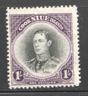 King George VI  1/-  SG 75  UM - Niue