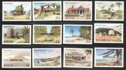 NEVIS   1981  Compete Official Set  Sc  O11-22   UM  MNH - St.Kitts-et-Nevis ( 1983-...)