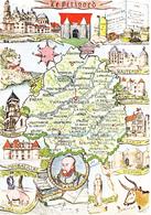 24 DORDOGNE - PERIGORD  / CARTE GEOGRAPHQUE ILLUSTREE I - Carte Geografiche