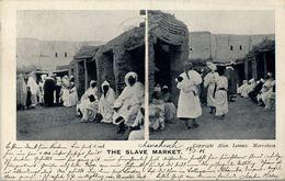 1906 , MARRUECOS FRANCÉS , TARJETA POSTAL CIRCULADA , MARRAKESH - LONDRES - Marokko (1891-1956)