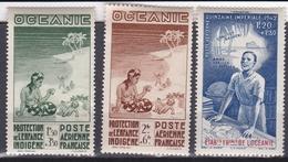 Océanie 1942 - PA N°4 à 6 Neuf** Luxe - Luftpost