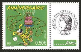 LE MARSUPILAMI. France Neuf ** Avec Vignette Personnalisée Avec Le Logo Cérès. Joyeux Anniversaire 2004. - Personalisiert
