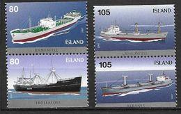 Islande 2007 N°1085/1088 Neufs** Bateaux Cargos - Ungebraucht