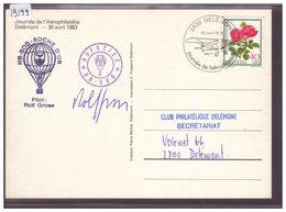 FORMAT 10x15cm - DELEMONT - JOURNEE DE L'AEROPHILATELIE 1983 - TB - JU Jura