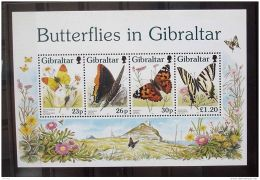 1997 Gibraltar - Schmetterlinge In Gibraltar / Butterflyes In Gibralter - MS - MI B 28 - MNH** (bsh 17) - Gibraltar