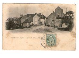 89 Saint Pere Sous Vezelay Entrée De La Ville Cachet 1905 - Autres Communes