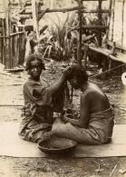Madagascar Salon De Coiffure Coiffeuse Ancienne Photo Perrot 1910' - Africa