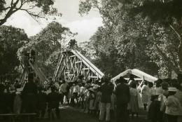 Madagascar Tananarive Fête Des Enfants Toboggan Ancienne Photo 1950 - Africa