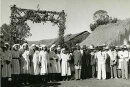 Madagascar Hopital à Analavory Infirmieres Ancienne Photo 1950 - Africa