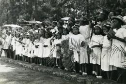 Madagascar Tamatave ? Defilé Foule Ancienne Photo 1950 - Africa