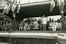 Madagascar Fianarantsoa Discours De François Mitterrand Ancienne Photo 1950 - Africa