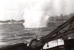 Grece WWII Bataille Du Cap Matapan Navire Britannique Ancienne Photo 1941 - War, Military