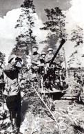 WWII URSS Armee Rouge Artillerie Tirant Sur Avions Allemands Ancienne Photo 1941 - War, Military