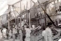 WWII Birmanie Rangoon Ruines Raid Japonais Ancienne Photo 1942 - War, Military