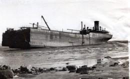 WWII Ecosse Petrolier MV Imperial Transport Echoue Ancienne Photo 1940 - War, Military