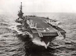 Mediterranee? Porte Avion Americain USS Forrestal Jordanie Ancienne Photo 1957 - War, Military