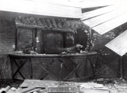 Egypte Ismailia Emeutes Ruines Bar Militaire NAFFI Ancienne Photo 1951 - War, Military