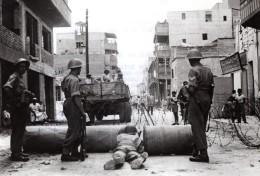 Egypte Ismailia Emeutes Lancashire Fusiliers Barrage Routier Ancienne Photo 1951 - War, Military