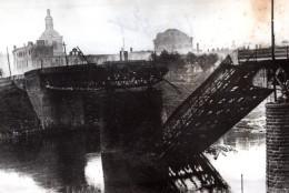 Russie Environs De Smolensk Pont Detruit Par Les Russes Ancienne Photo 1941 - War, Military
