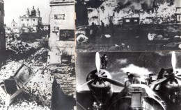 WWII Russie Scenes De Destruction Guerre Aviation Anciennes Photos 1941 - War, Military