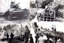 WWII Russie Vyazma Scenes De Destruction Guerre Tank Sous Marin Anciennes Photos 1941 - War, Military