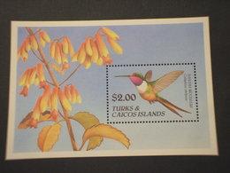TURKS - BF 1990 UCCELLO/COLLIBRI - NUOVO(++) - Turks E Caicos