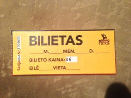 Tigris Lithuania Ticket - Biglietti D'ingresso