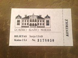 Rokiškis Regional Museum Ticket Lithuania - Biglietti D'ingresso