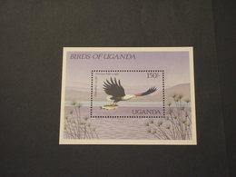 UGANDA - BF  1987 UCCELLO E PESCE - NUOVO(++) - Uganda (1962-...)