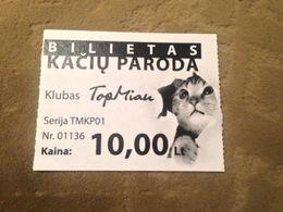 Cats Club Ticket Lithuania - Biglietti D'ingresso