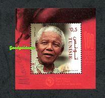 2018- Tunisia - Centenary Of Nelson Mandela- Perforated Block MNH** - South Africa (1961-...)